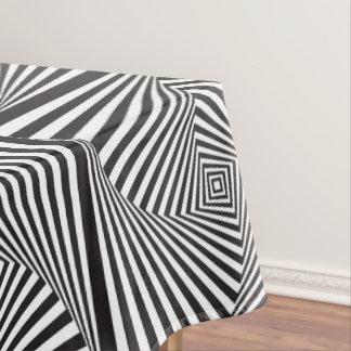 Toalha De Mesa Ilusão óptica espiral branca preta bonita