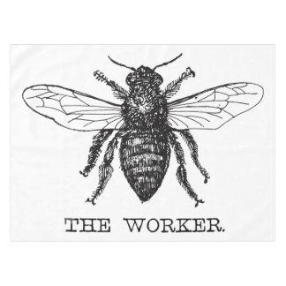 Toalha De Mesa Ilustração da caneta e da tinta da abelha de
