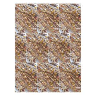 Toalha De Mesa Impressão natural da miçanga de Earthtones do