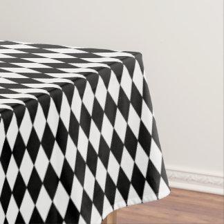 Toalha De Mesa Impressão Tablecloth-Preto & branco do diamante