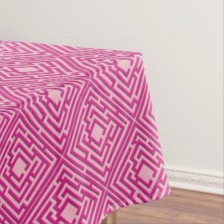 Toalha De Mesa Labirinto cor-de-rosa brincalhão em alguma cor