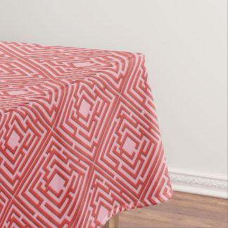 Toalha De Mesa Labirinto vermelho brincalhão em alguma cor