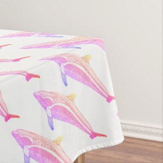 Toalha De Mesa Linha design do golfinho dois da arte