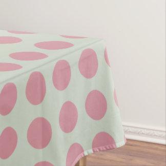 Toalha De Mesa Luz cor-de-rosa à moda das bolinhas - fundo verde