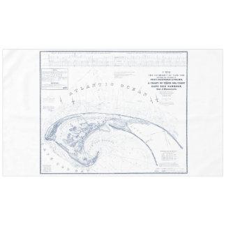 Toalha De Mesa Mapa de Provincetown Cape Cod do vintage