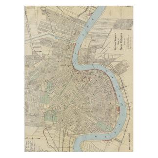 Toalha De Mesa Mapa do vintage de Nova Orleães (1919)