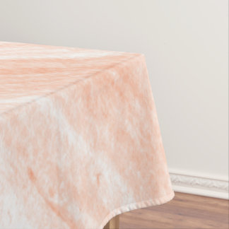 Toalha De Mesa Mármore alaranjado e branco da luz -