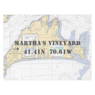 Toalha De Mesa Martha's Vineyard náutico da latitude da longitude