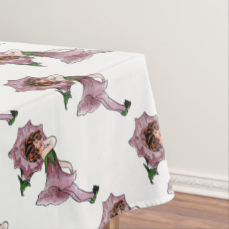 Toalha De Mesa Miúdos bonitos da menina da criança de flor do