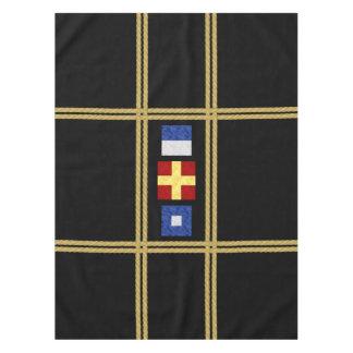 Toalha De Mesa Monograma marítimo da bandeira de sinal da