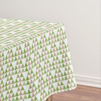 Toalha De Mesa Mosaico geométrico do triângulo verde das
