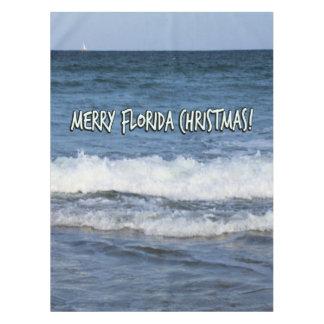 Toalha De Mesa Natal alegre de Florida sobre o oceano