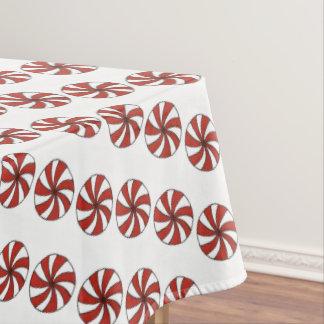 Toalha De Mesa Natal branco vermelho dos doces de hortelã do