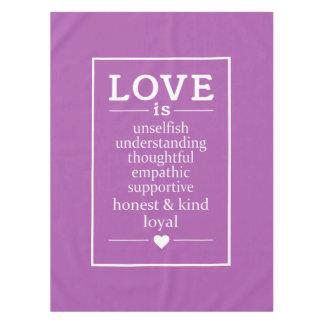 Toalha De Mesa O amor é… pano de mesa feito sob encomenda da cor