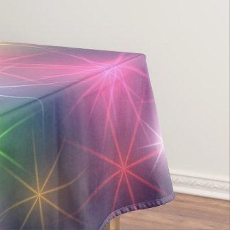 Toalha De Mesa O arco-íris colore estrelas da festa de Natal