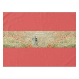 Toalha De Mesa O campo vermelho da papoila de Monet floresce o