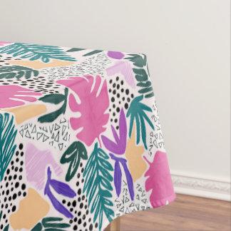 Toalha De Mesa O corte dá forma ao Tablecloth tropical do teste