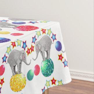 Toalha De Mesa O elefante Stars o teste padrão do circo