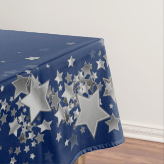 "Toalha De Mesa O feriado Stars o azul do Tablecloth ""60x84"" -"