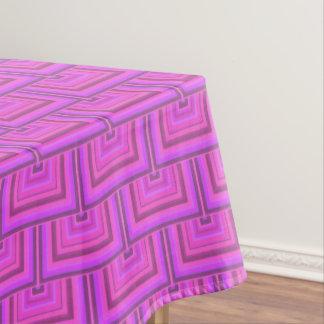 Toalha De Mesa O quadrado cor-de-rosa das listras escala o teste