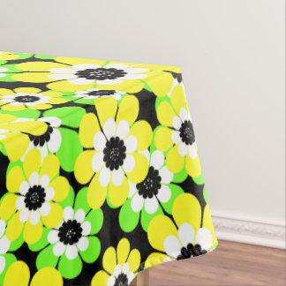 Toalha De Mesa O verde amarelo floresce, flores, teste padrão