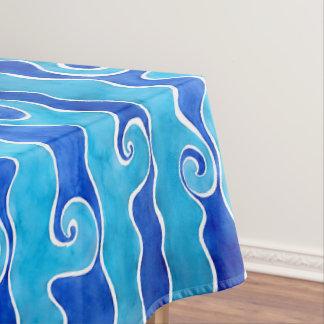 Toalha De Mesa Ondas do azul do Aqua