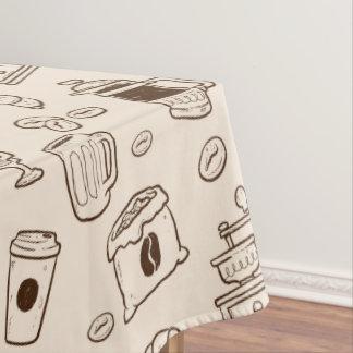 Toalha De Mesa Os feijões de café de Brown ilustraram o teste