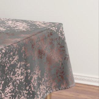 Toalha De Mesa ouro cor-de-rosa do falso elegante e brushstrokes