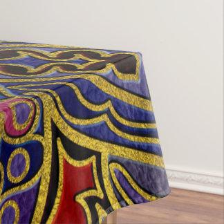 Toalha De Mesa Ouro da mandala gravado no couro do falso