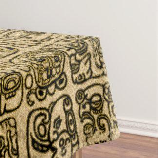 Toalha De Mesa Ouro maia e asteca dos glyphs na textura do