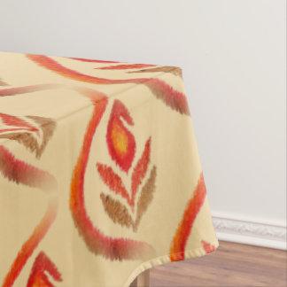 Toalha De Mesa Outono Ikat da terra Paisley pintado mão