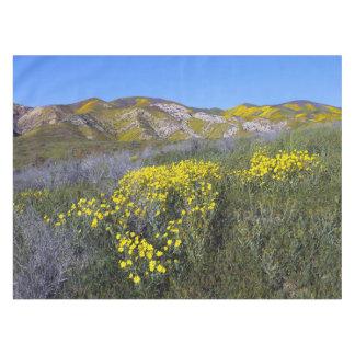 Toalha De Mesa Paisagem amarela do campo do Wildflower