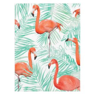 Toalha De Mesa Palma do flamingo e da hortelã