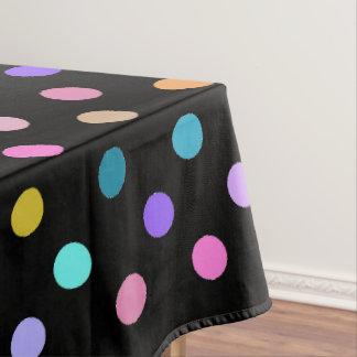 Toalha De Mesa Pano de mesa colorido das bolinhas pretas dos