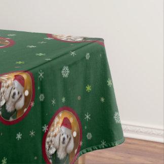 Toalha De Mesa Pano de mesa da caniche do Natal