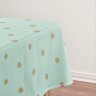 Toalha De Mesa Pano de mesa dourado das bolinhas da hortelã