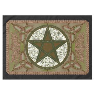Toalha De Mesa Pano do altar com Pentagram verde & Triquatras