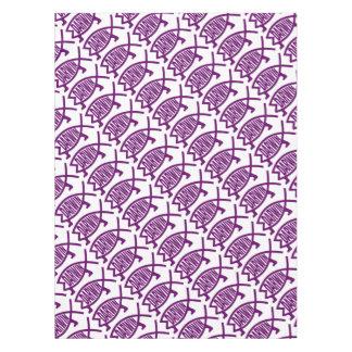 Toalha De Mesa Peixes originais de Darwin (violetas)