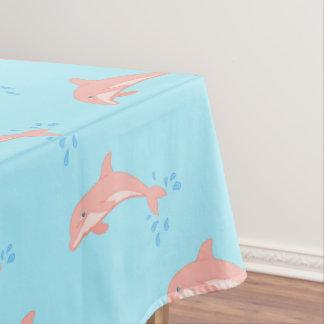 Toalha De Mesa Pêssegos o golfinho cor-de-rosa