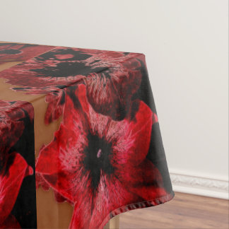 Toalha De Mesa Petúnia do vermelho e do Claret