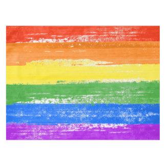 TOALHA DE MESA PINTURA DA BANDEIRA DO ARCO-ÍRIS DE LGBT