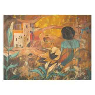 Toalha De Mesa Pintura dos moradores do penhasco