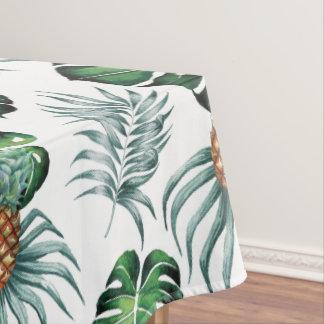 Toalha De Mesa Pintura tropical do abacaxi da aguarela no branco