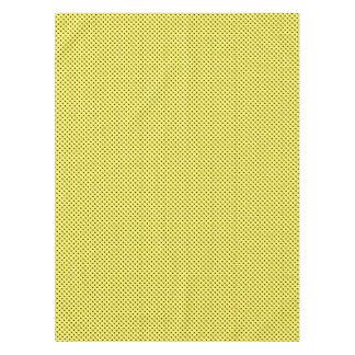 Toalha De Mesa Pontos pretos no amarelo