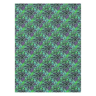 Toalha De Mesa Pop art abstrato da folha no verde e no roxo de