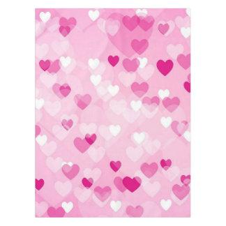 Toalha De Mesa Por todo o lado nos corações, cor-de-rosa