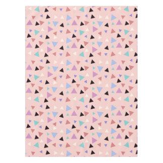 Toalha De Mesa Preto roxo da hortelã do rosa geométrico elegante