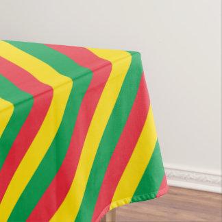 Toalha De Mesa Rasta colore o teste padrão vermelho amarelo verde