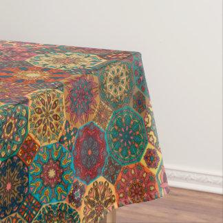 Toalha De Mesa Retalhos do vintage com elementos florais da