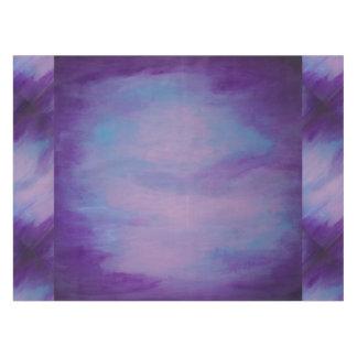 Toalha De Mesa Rosa azul roxo   da aguarela chique Flighty da
